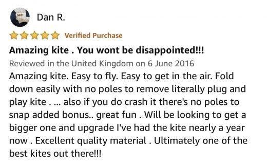 flexifoil kite customer review