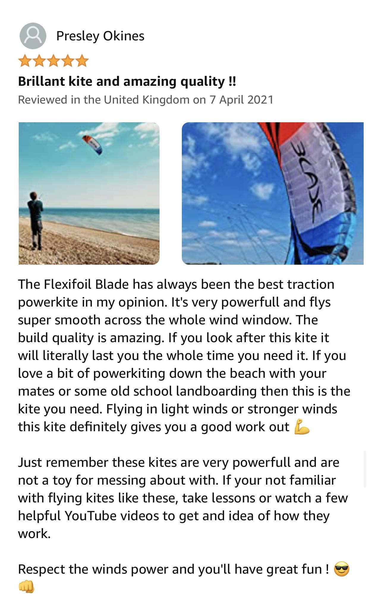 Flexifoil Blade Kite Review